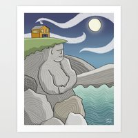 At Home By the Sea Art Print