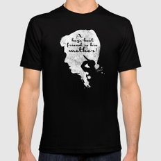 Boy's best friend – Norman Bates Psycho Silhouette Quote Black Mens Fitted Tee SMALL