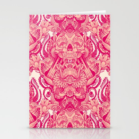 wallpaper skulls Stationery Card
