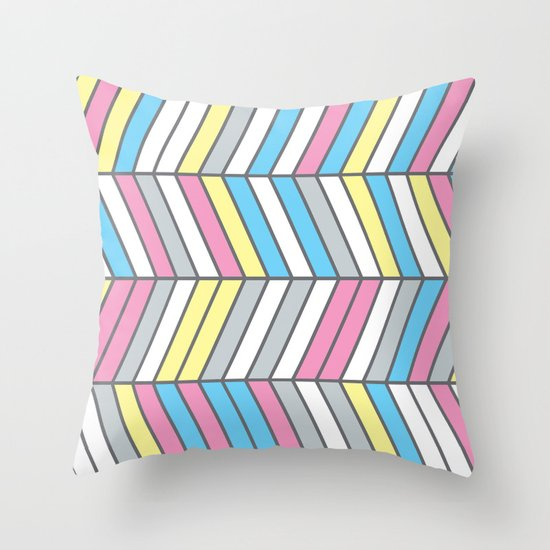 Four Colour Process Throw Pillow