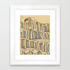 Ocean of love Framed Art Print