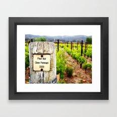 Pinot Noir  Framed Art Print