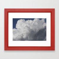 Cotton wool Clouds Framed Art Print