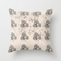 Fungus & Tangled Necklaces // Hand Drawn Print Throw Pillow
