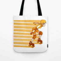 Roller Derby Skater by RonkyTonk Tote Bag
