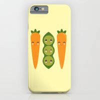 iPhone & iPod Case featuring Peas and Carrots  by Steph Dillon