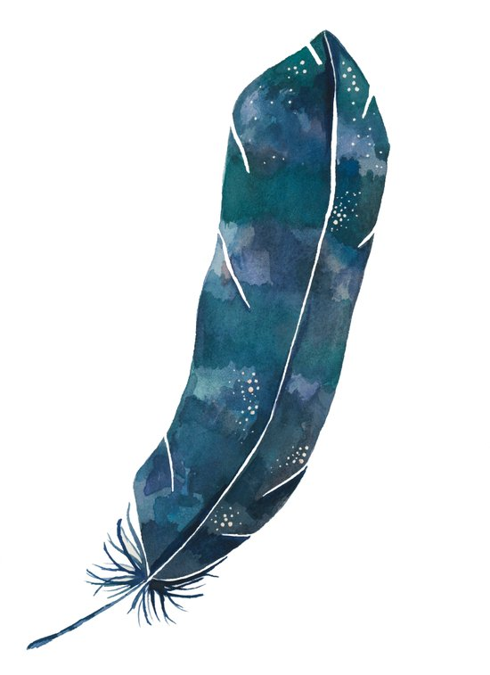 Nebula Feather Art Print
