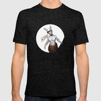 Santa's present, from reindeer. Mens Fitted Tee Tri-Black SMALL