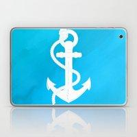White Anchor Laptop & iPad Skin