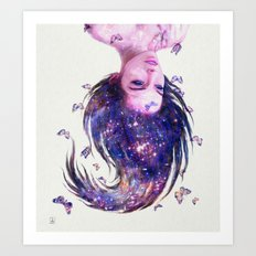 Galaxy Girl Art Print