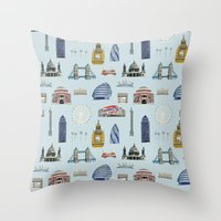 All of London's Landmarks  Throw Pillow