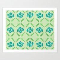 Vintage Flower Pattern Art Print