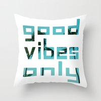 good vibes only // Punta Cana Throw Pillow