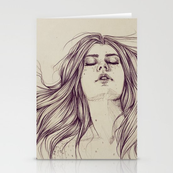 Flowing like the tide Stationery Card