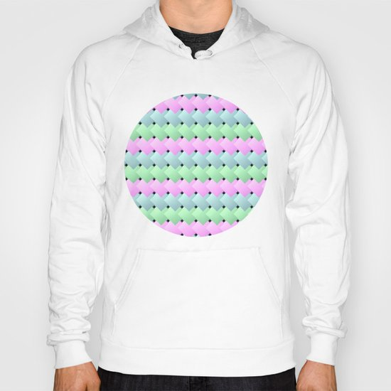 Overlapping Diagonal Square Pattern Hoody