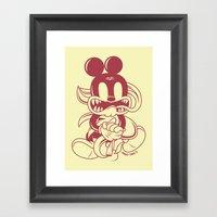 Junkie Mouse Framed Art Print