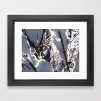 Glitter Reeds Framed Art Print