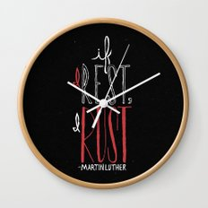If I Rest, I Rust | Martin Luther Wall Clock