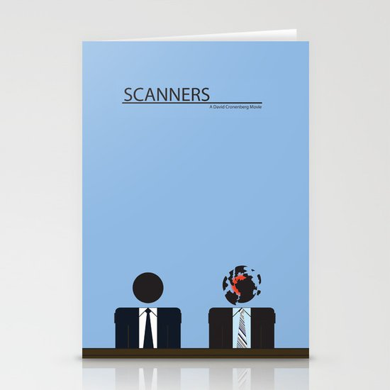 Scanners - Altenative Movie Poster Stationery Card