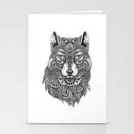 Abstract Wolf Stationery Cards