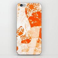 Heart - Orange iPhone & iPod Skin