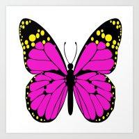 Glamorous Butterfly Art Print