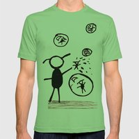Bubble Monsters Mens Fitted Tee Grass SMALL