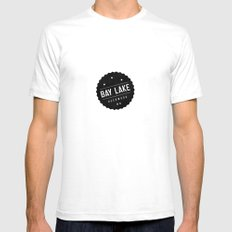 BAY LAKE Mens Fitted Tee White SMALL