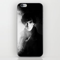 AMAZING SHERLOCK - BLACK & WHITE iPhone & iPod Skin