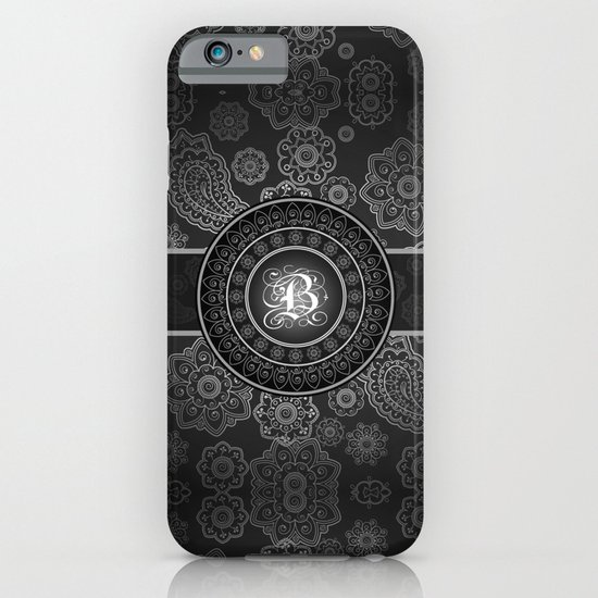 Monogrammed Aridi B Black and White iPhone & iPod Case