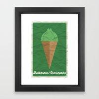 Bulbasaur Cheesecake Framed Art Print