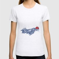Olympic Swimmer  Womens Fitted Tee Ash Grey SMALL
