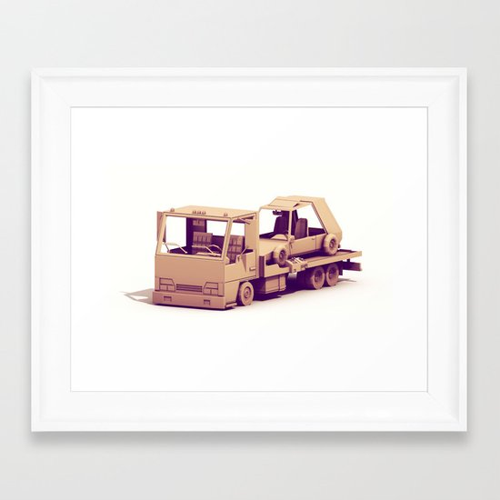 Race Car Hauler Framed Art Print