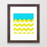 Bright Zig-Zag Framed Art Print