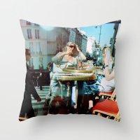 Cafe Arsenal, Paris (Dou… Throw Pillow