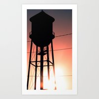 Art Print featuring Water Tower by LocalMadMAn