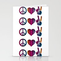 Peace Love and more Peace Stationery Cards