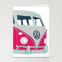 Vintage camper van  Stationery Cards