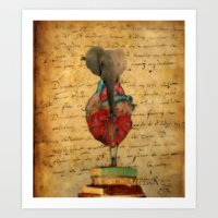 Elephant Heart  Art Print