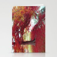 Red Autumn  Stationery Cards