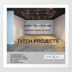 UMOCA Artforum Advertisement Art Print