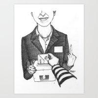 Le Contrat de Confiance Art Print