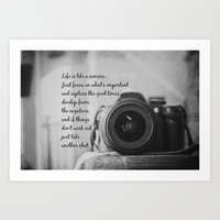 Life is Like a Camera Art Print
