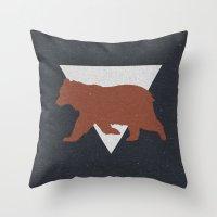 Bear & Bravery Throw Pillow