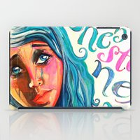 She'd be standing next to me.  iPad Case
