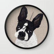 Boston Terrier 2015 Wall Clock