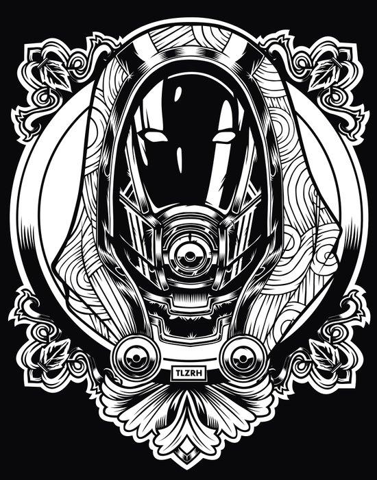 Mass Effect. Thali Zora Art Print