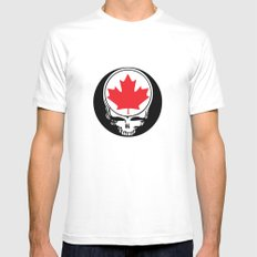 Canadian Steal Your Face Mens Fitted Tee White SMALL