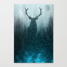 Snow Stag Canvas Print