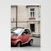 Red car in Marienbad Stationery Cards